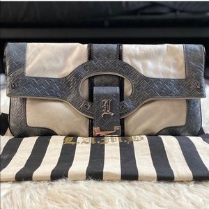 L.A.M.B. Treviso Convertible Oversized Clutch